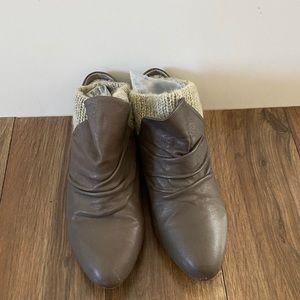 Aldo Grey Leather Mules